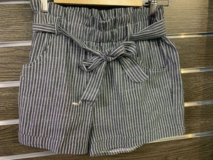Women's Casual Stripped Tie Shorts