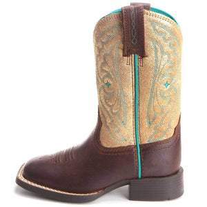 Gold Girl's Ariat Quickdraw Boots