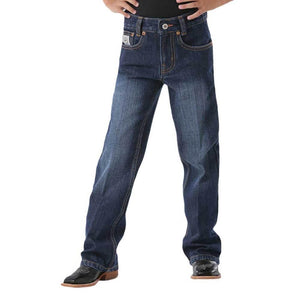 Boy's Cinch Dark White Label Jeans - Diamond K Country