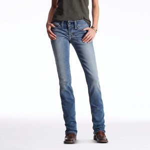 Women's Ariat R.E.A.L. Straight Icon Jeans Rainstorm