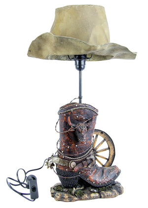 Brigalow Western Themed Table Lamp- Boot & Hat