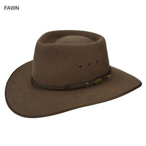 Akubra Cattleman Hat Fawn - Diamond K Country