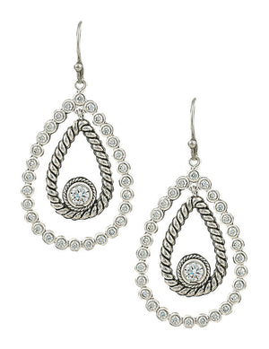 Montana Silversmiths - Hidden Treasure Raindrop Earrings