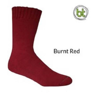 Bamboo Socks Extra Thick Burnt Red - Diamond K Country