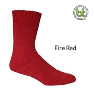 Bamboo Socks Extra Thick Fire Red - Diamond K Country