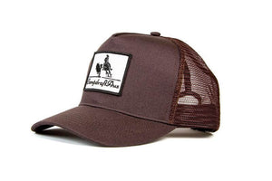 The Campdraft Aus - Burgundy Vintage Cotton Trucker Cap