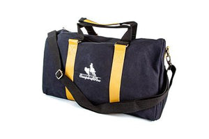 CampdraftAus Black Canvas Duffle Bag