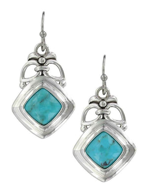 Women's Montana Silversmiths Turquoise Key Earrings