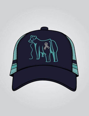 Love for Lily - Navy & Teal Trucker Cap
