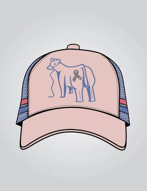 Love for Lily - Peach & Light Blue Trucker Cap
