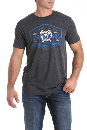 Men's Cinch Heathered Grey T-Shirts