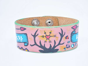 Cactus Lace Leather - Wide Wristband - Stay Wild