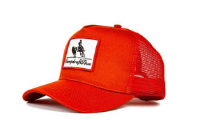 The Campdraft Aus - Melon Red Vintage Cotton Trucker Cap