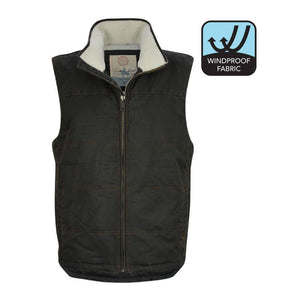 Men's Thomas Cook Glen Sherpa Lined Faux Oilskin Vest