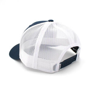 Ringers Western - Navy & White Signature Bull Trucker Cap with Navy & WhitePatch