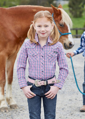 Girl's Pure Western Nicki Check L/S Shirt P9W5101230