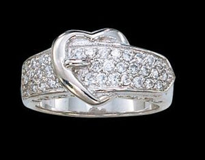 Women's Montana Silversmiths Heart Shaped Buckle Ring