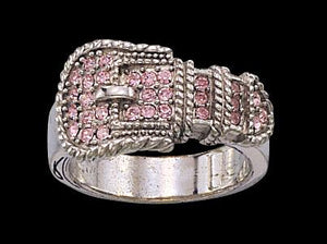 Women's Montana Silversmiths Pink Buckle Ring - Size 7