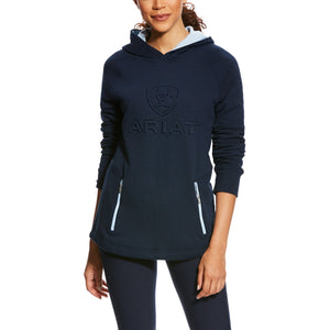 Ariat Ladies AriatTEK 3D Logo Navy Blue Hoodie Sweatshirt