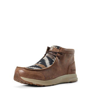 Men's Ariat Spitfire Wicker Navy Aztec Print Moc Boots