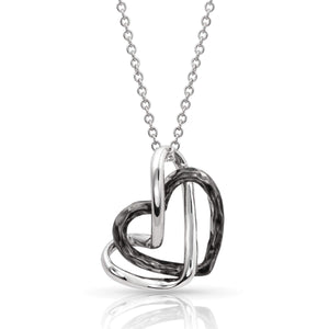 Women's Montana Silver Love Entwined Heart Necklace