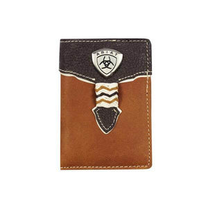 Ariat Trifold Dark Brown Wallet - Diamond K Country