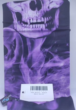 Face Shield - Purple Skull