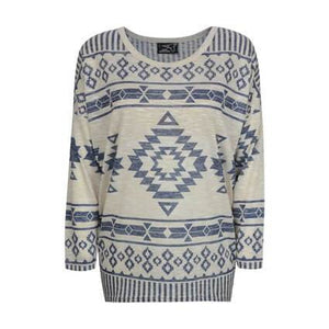 Women's Pure Western Aztec L/S Top