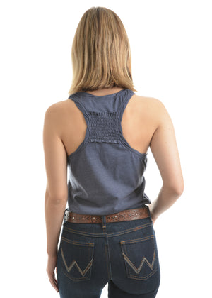 Women's Wrangler Cassie Singlet Top - Denim Marle