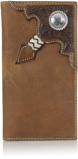 Ariat Brown Embossed Rodeo Wallet