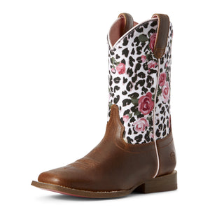 Ariat Kid's Gringa Boots Busted Brown/Leopard 10027278