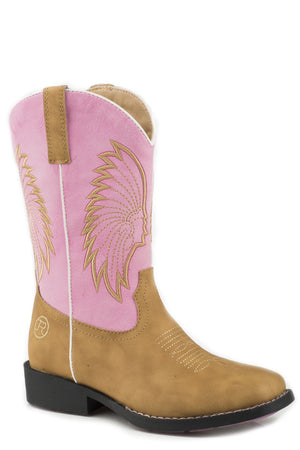 Toddler's Roper Big Chief Boots Pink