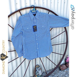 Men's Bisley Royal Blue Check Shirt BS7901