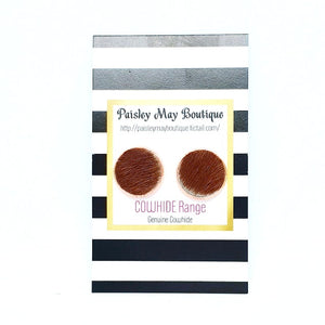 Paisley May Boutique Cowhide Earring #3