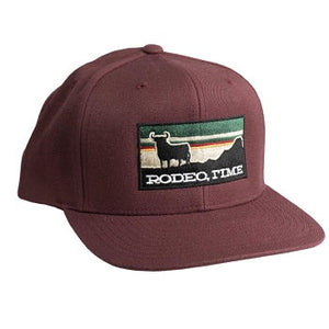 Dale Brisby Wear - Maroon Rodeo Time Sunset Cap