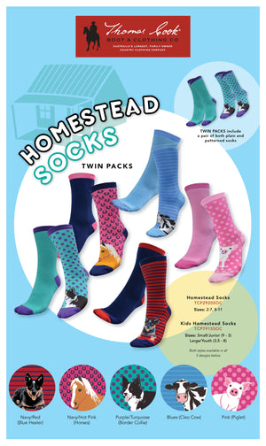 ADULT - Thomas Cook Homestead Socks 2 Pack