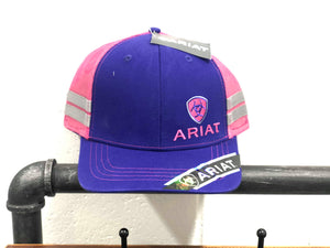 Ariat Purple Mesh Snap Closure Cap