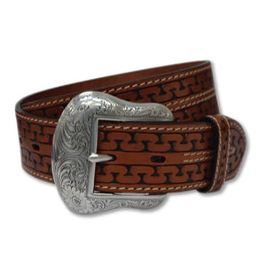 The Women's Twisted X Cognac Serpent Belt
