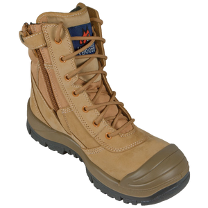 Mongrel Wheat High Leg ZipSider Steel Cap Boot