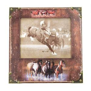 Brigalow Photo Frame- Running Horses
