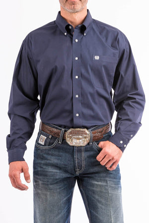 Men's Cinch Solid Navy Shirt