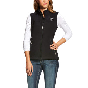 Women's Ariat New Team Softshell Vest Black