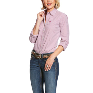 Women's Ariat Kirby Stretch L/S Shirt Berry Juice Stripe