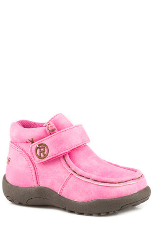 Toddler Roper Cowbaby Moc Pink Boot