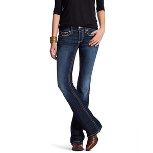 Women's Ariat R.E.A.L. Sienna Boot Cut Mid Rise Jeans Nightshade