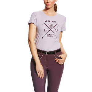 The Women's  Burgundy Ariat Heather Logo Tee