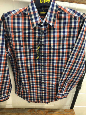 Men's Bisley L/S Check Peach Shirt