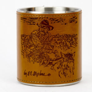 Brigalow Leather Bound Mug - Old School