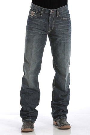 Men's Relaxed Fit White Label Jeans - DARK STONEWASH Leg 34""