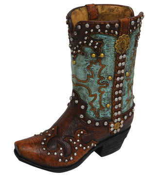 Pure Western Resin Stud Boot Money Box